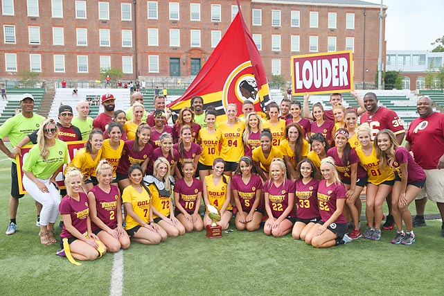 The Washington Redskins cheerleaders had their Inaugural Burgundy & Gold football game on June 8.  Here are some photos