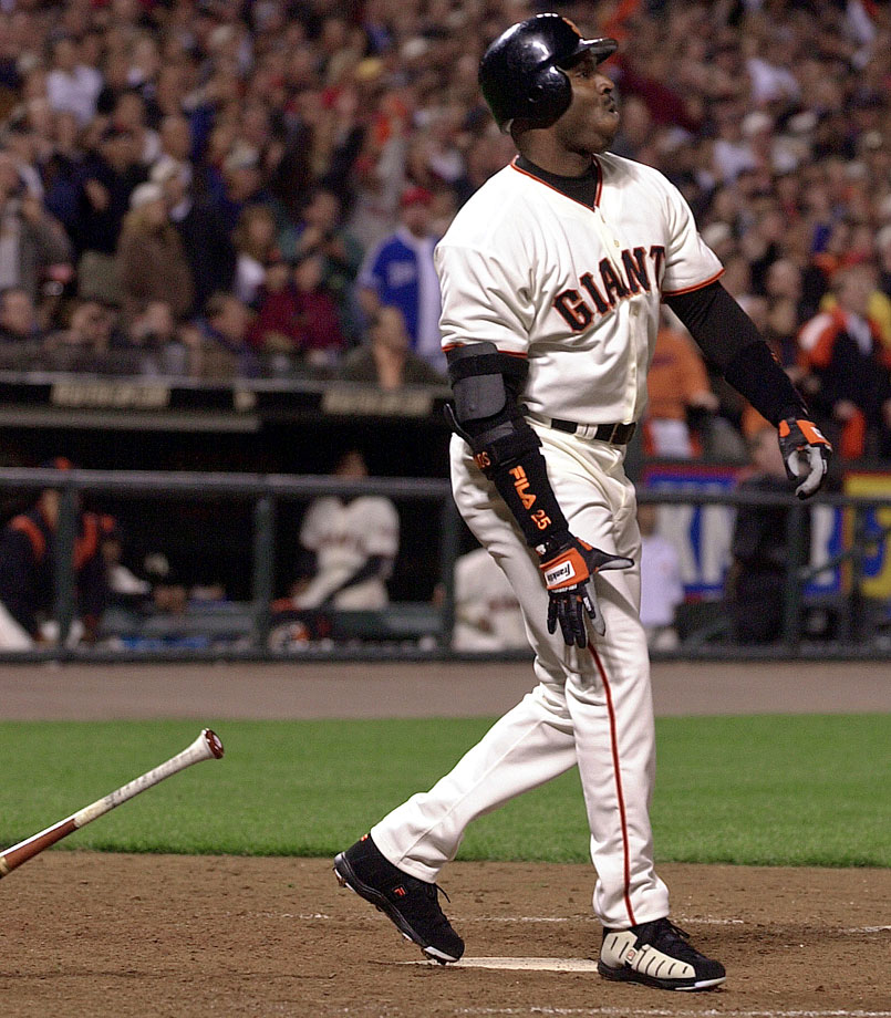 Bonds became the 17th member of the 500 club on April 17, 2001, in San Francisco with a two-run homer off Los Angeles' Terry Adams. Bonds passed Hank Aaron as baseball's all-time home run king in his final season, although many believe Aaron still remains the king.