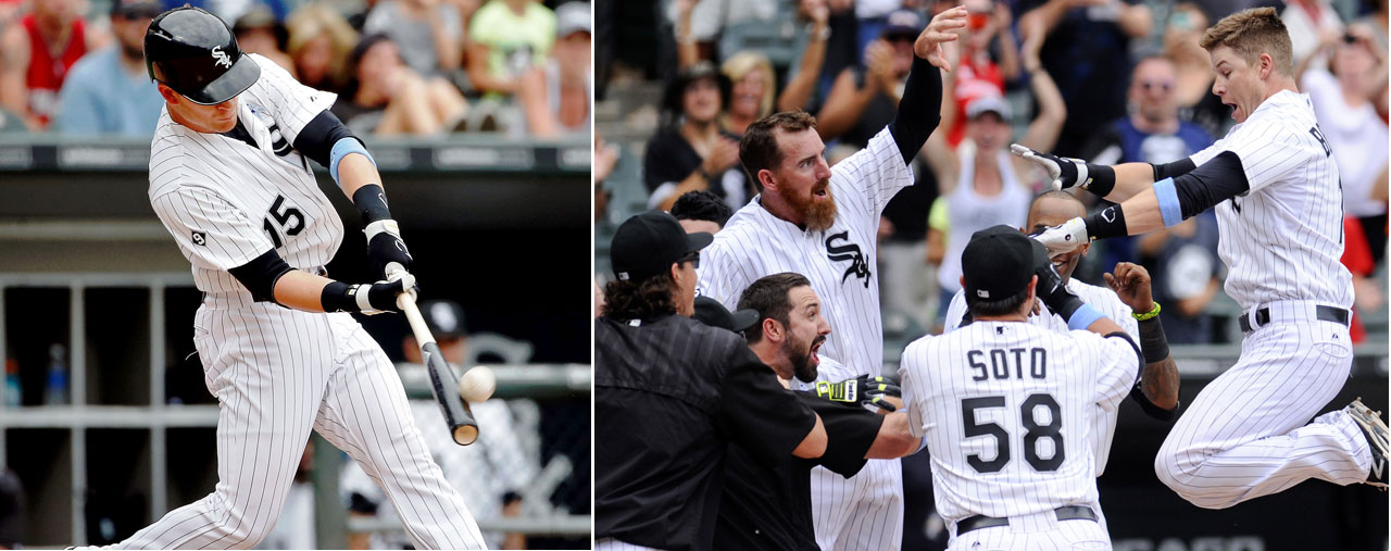 Gordon Beckham hit an 11th inning, solo home run on June 21 to give the Chicago White Sox a 3-2 victory over the Texas Rangers on June 21.