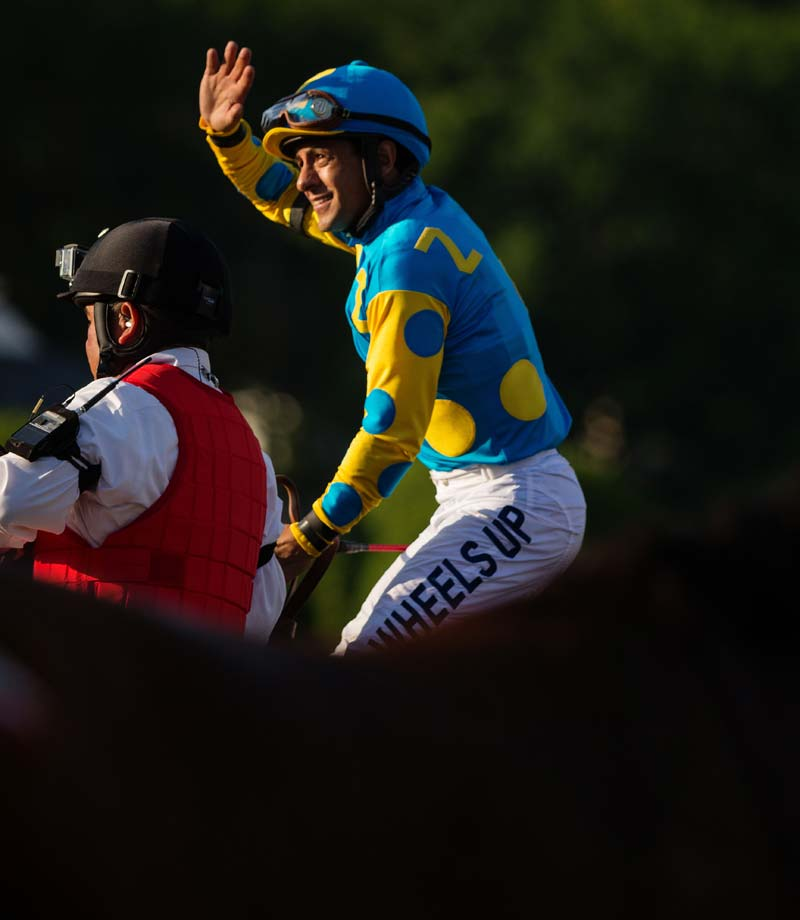 Unlike Affirmed, who dueled Alydar in all three races, American Pharoah didn't have a specific rival since he was the only horse to run in all three Triple Crown races. Going into the Belmont, American Pharoah had beaten all of his seven challengers before. (Text credit: AP)