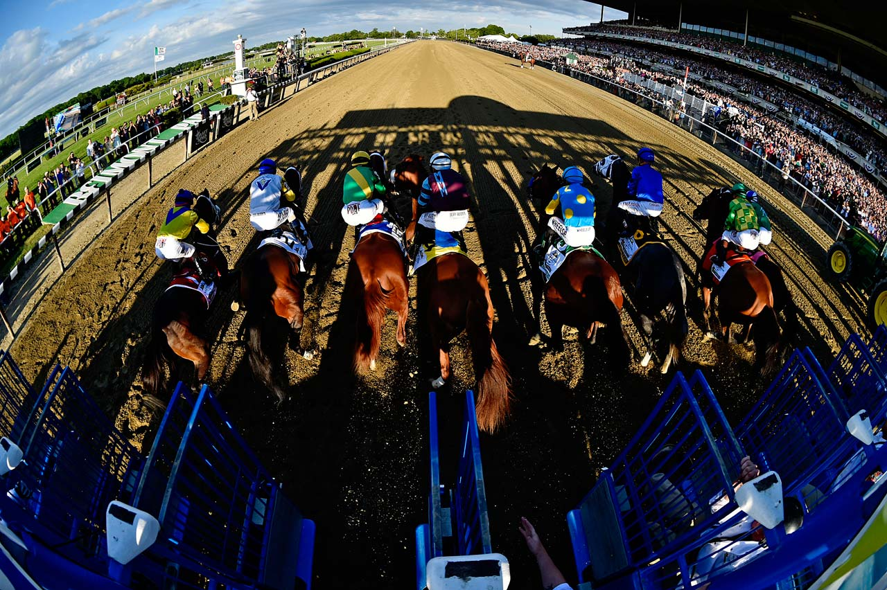 The start was clean as American Pharoah broke from the fifth gate to the lead.