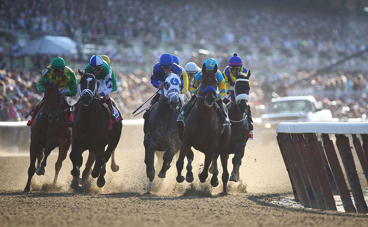 The bay colt with the unusually short tail easily defeated seven rivals in the grueling 1 1/2-mile race. (Text credit: AP)