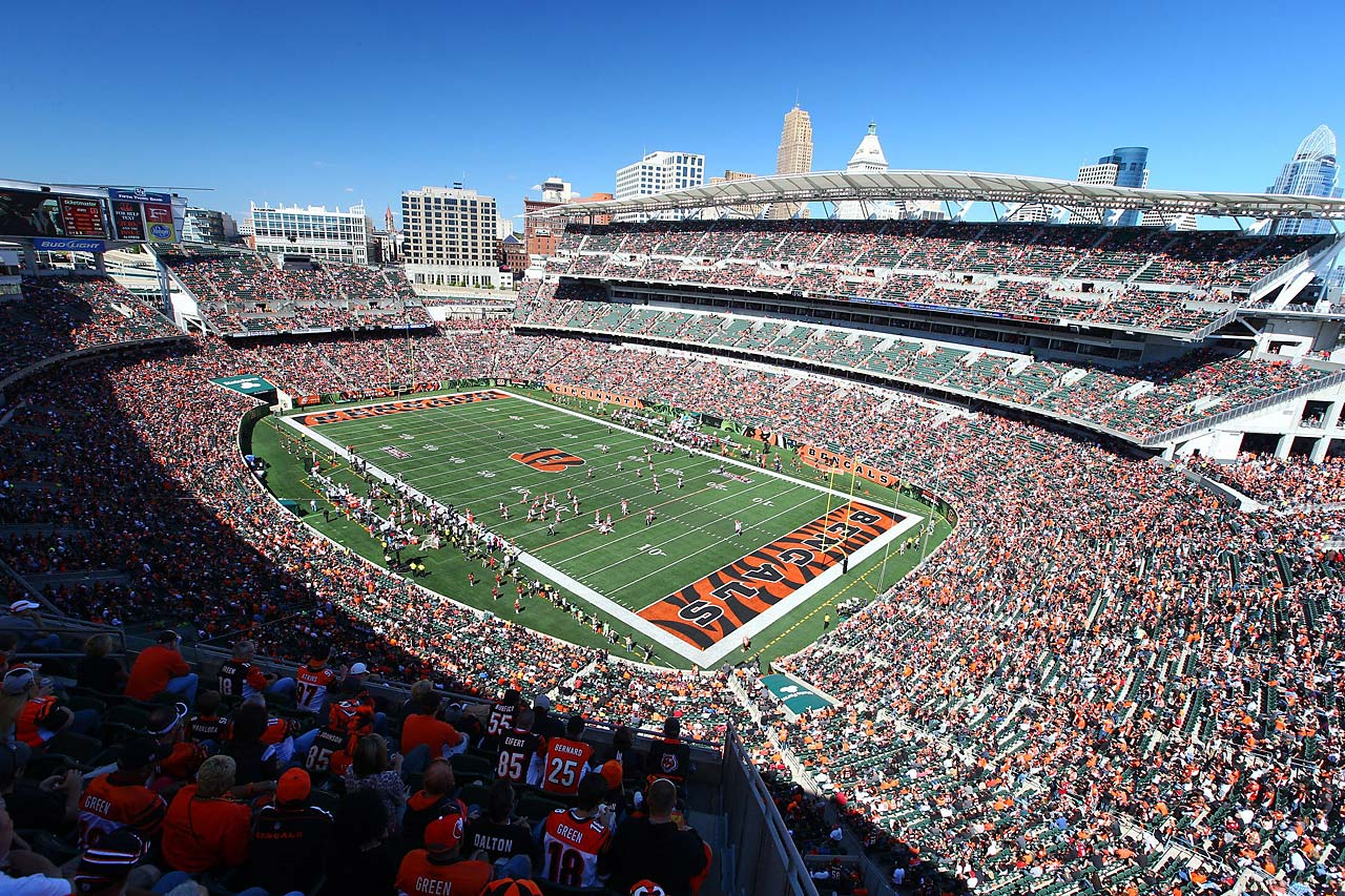 The scene in Cincinnati, where the Bengals won their home opener and improved to 2-0 for the first time since 2006.