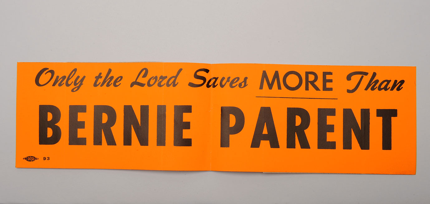 """Only the Lord saves more than Bernie Parent"" became a catch-phrase and bumper sticker in Philadelphia."