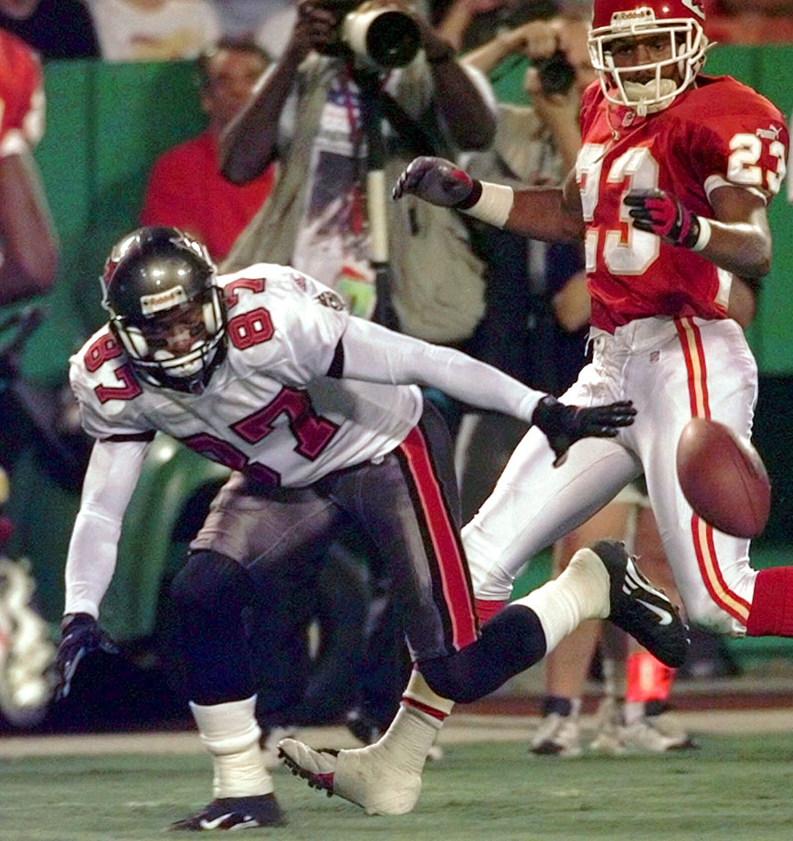 The Bucs followed up the blunder of signing Alvin Harper by replacing him with yet another bust. Emanuel signed for $4 million a year after three straight 65-reception seasons in Atlanta, but his production dropped sharply. He caught 41 balls in 1998, only 21 in 1999, and was released after those two seasons.