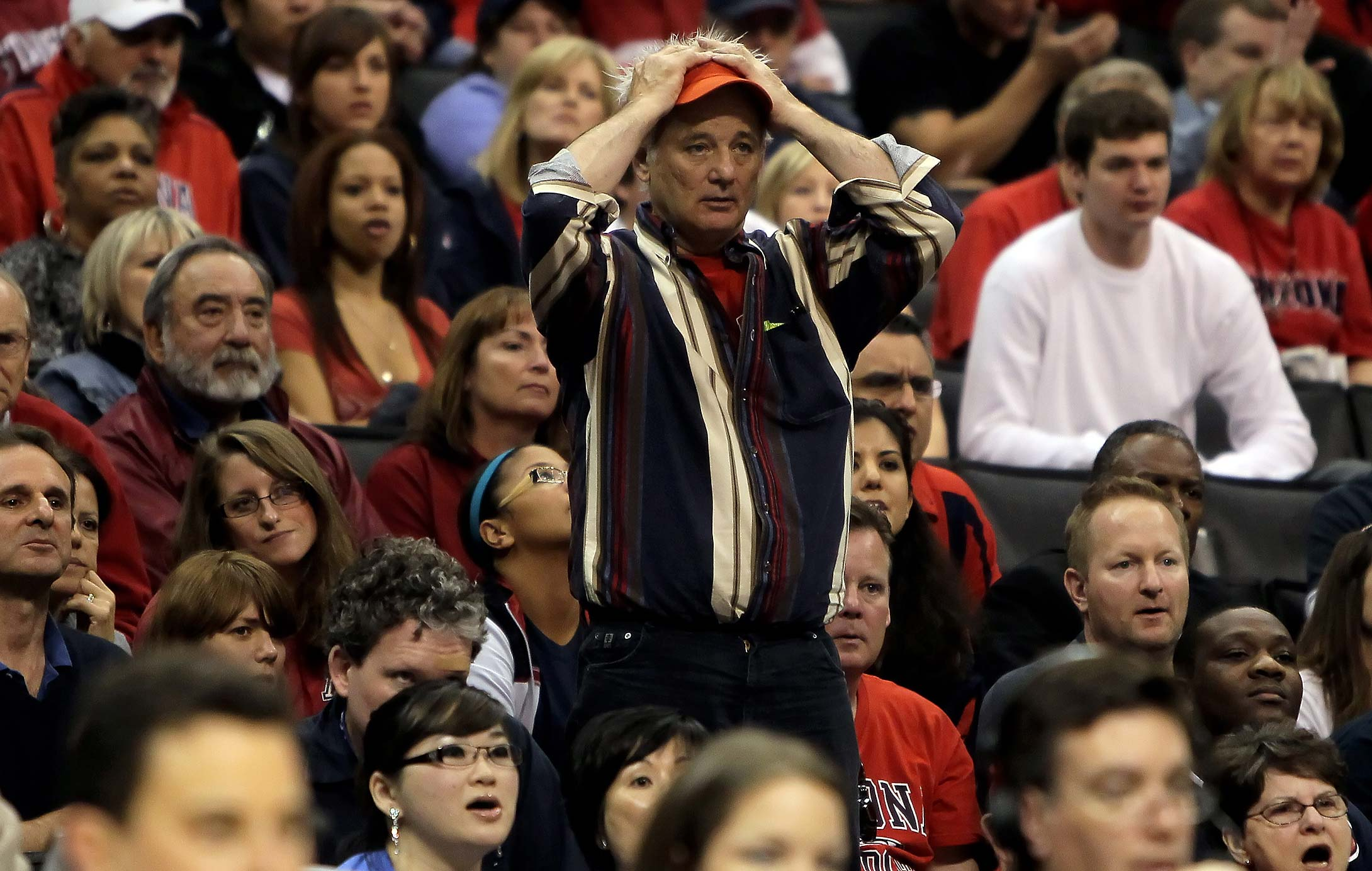 Bill Murray at the 2010 quarterfinals of the Pac-10 tournament at Staples Center.