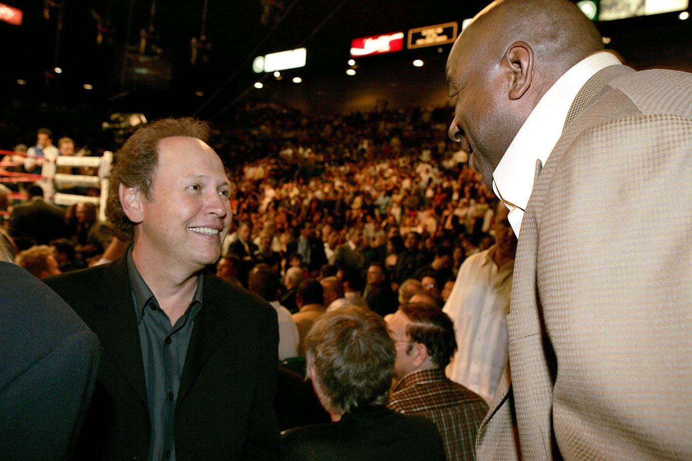 Billy Crystal at Oscar de la Hoya vs Bernard Hopkins.