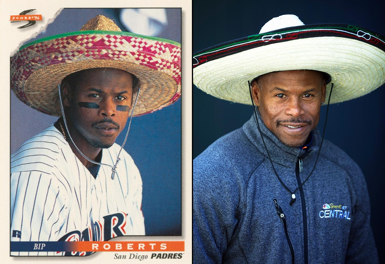 """We had Mexican Heritage Day and people were performing in costumes before the game. I said to one of the dancers, 'Let me see that sombrero,' and I started doing the salsa. The Padres knew that was just me—I used to dunk a beach ball over the outfield wall. They'd get mad about that, saying, 'He's going to get hurt!' But the fans loved it. I'm really just humbled that such a little thing as a card could bring me so much joy."""