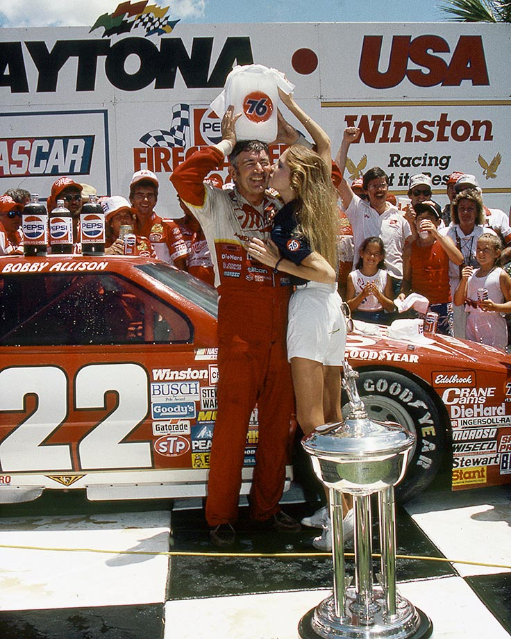 Bobby Allison came from a lap down, passing 11 cars in the final four laps of the race to make one to the most amazing comebacks in NASCAR history.