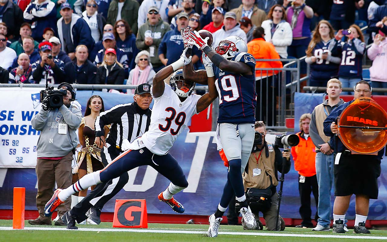 Brandon LaFell caught 11 passes for 124 yards and one touchdown against the Bears.