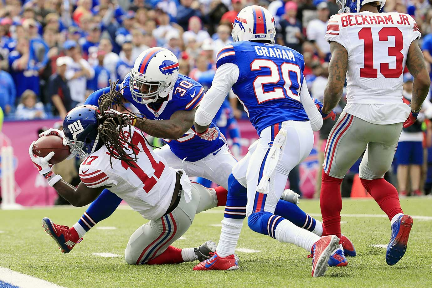The Bills have technically scored closer to their projections than the Chargers and 49ers, but both of those teams were expected to field bottom-10 defenses. Buffalo was projected by Yahoo! as the No. 2 D/ST during the preseason, as Rex Ryan's high-pressure scheme was supposed to generate a ton of turnovers. That rosy outlook hasn't exactly panned out. The Bills have only forced 18 turnovers through 12 games, have yet to record three sacks in a game and are averaging just 1.5 takedowns per contest.