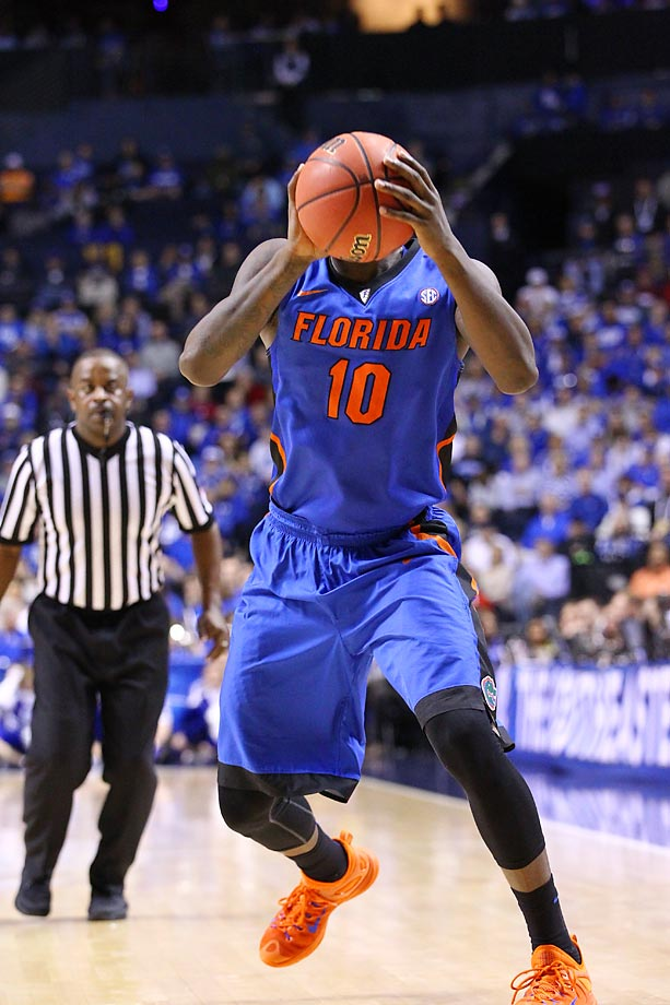 Dorian Finney-Smith of the Florida Gators against Kentucky. Kentucky beat Florida 64-49 at the Bridgestone Arena.