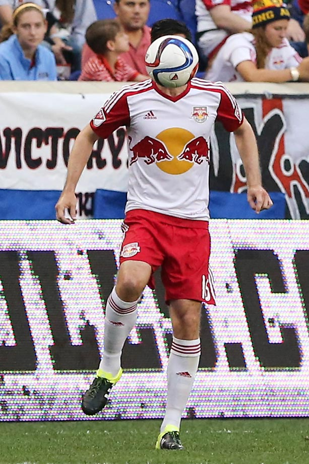 Sacha Kljestan of the New York Red Bulls during a game against Vancouver FC.
