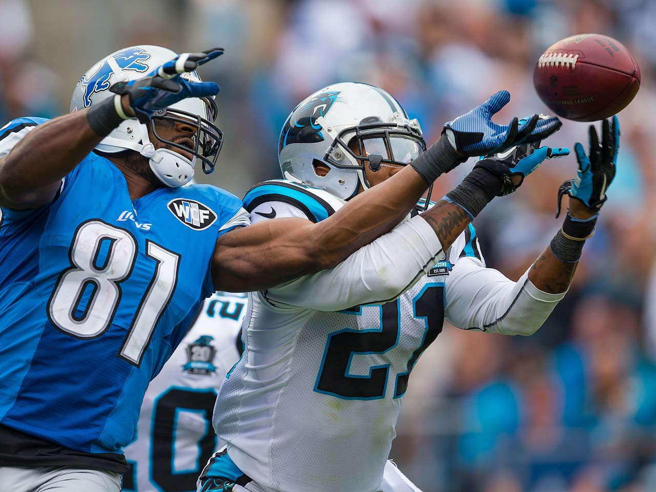Calvin Johnson failed to score against the Panthers, catching six passes for 83 yards.