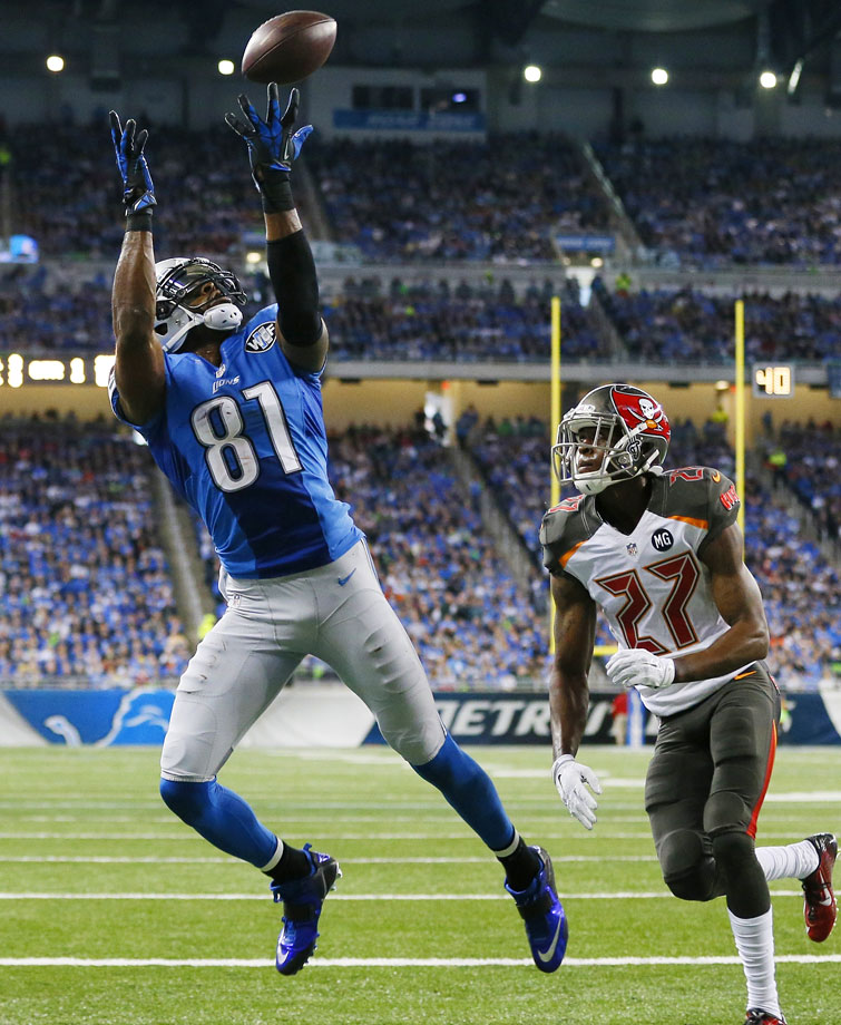 """Megatron is still a big deal, even after an injury-plagued 2014 season in which he caught """"only"""" 71 passes for 1,077 yards and eight touchdowns.  Yes, Johnson will turn 30 this season. And yes, this is the time when you have to start watching out for the age/injury curve with all players, even the best ones. But in Detroit's high-volume passing attack, Johnson, at full power, can still be a nightmare for opposing defenses."""