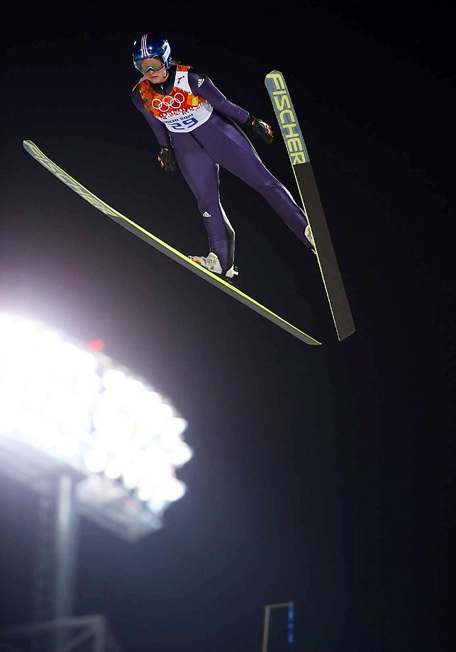 Carina Vogt of Germany owns the women's ski jumping's first-ever Olympic gold medal.