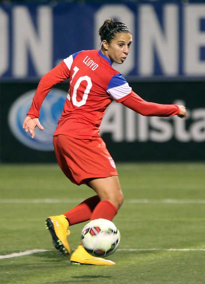 She doesn't have the name-brand recognition of the other U.S. stars on this list, but Lloyd is still one of the team's most consistent players and an important cog in midfield. She's the only player, male or female, to score the gold medal-winning goal in two separate Olympics, as she did in 2008 and 2012, when she scored both in a 2-1 win over Japan.