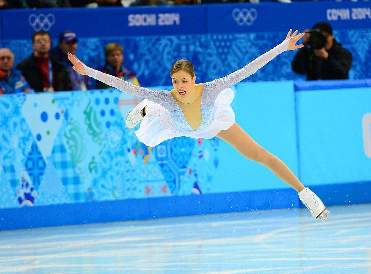 Carolina Kostner of Italy holds down third place after the short program.