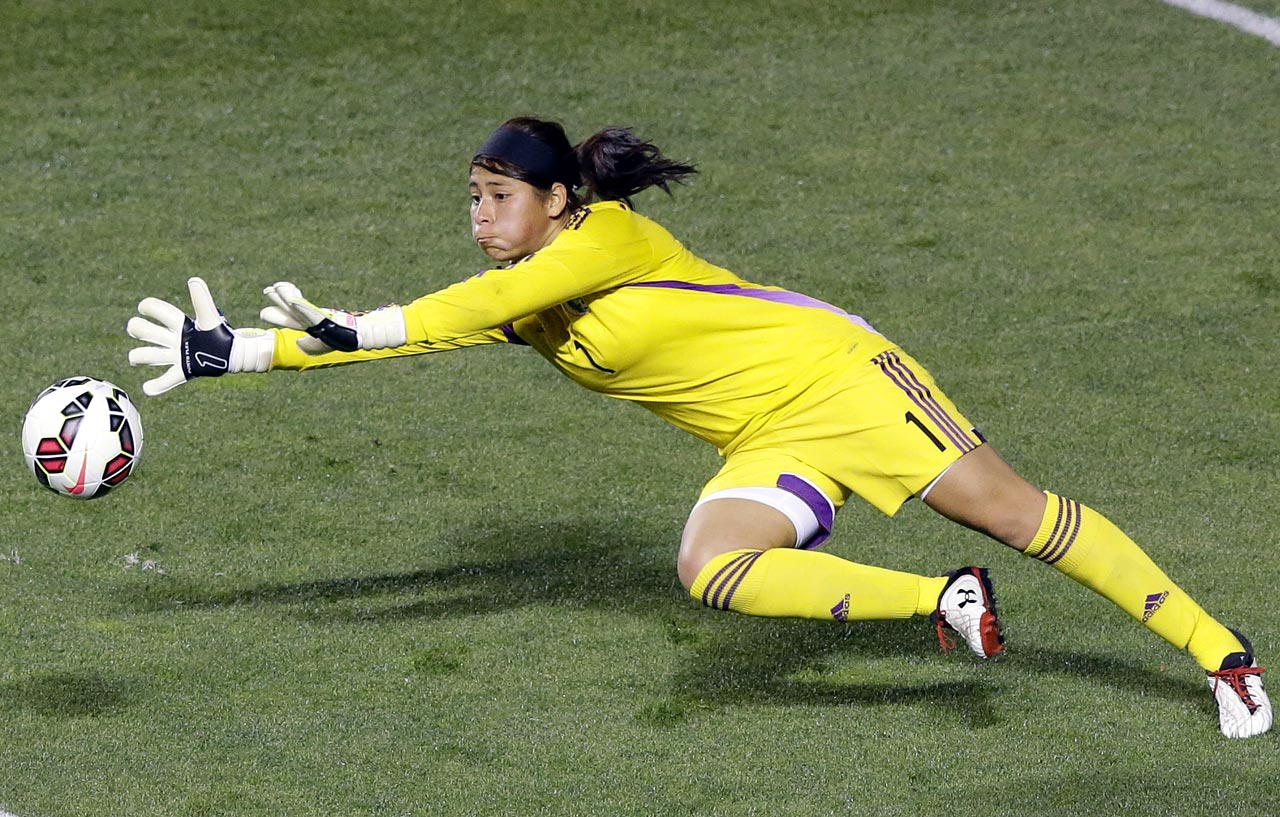 Santiago made the World Cup roster for Mexico at age 16 in 2011, and she's the youngest goalkeeper of either gender to play in a World Cup. Being the youngest player has become familiar territory for her, as she had just turned 14 at the 2008 Under-20 World Cup, and she played an important role in Mexico's advancement to the quarterfinals in the 2010 edition of the same tournament.