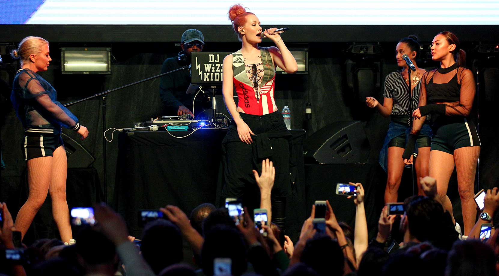 Rapper Iggy Azalea performs onstage during the Sports Illustrated Experience Friday Night Party in San Francisco.