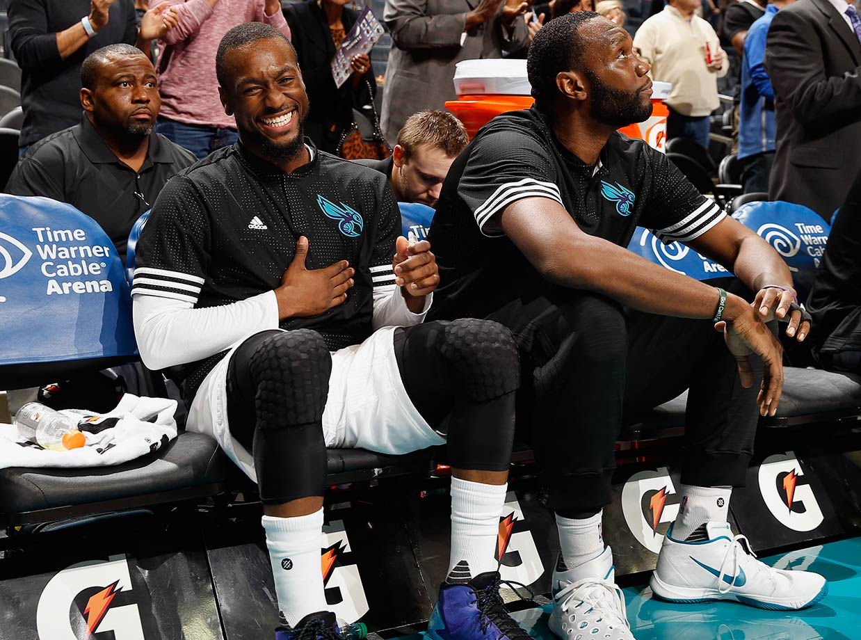 New uniforms have done little to cover up the fact that Al Jefferson still can't play defense and Kemba Walker is basically a glorified chucker. The Hornets' best player will always be their  owner.