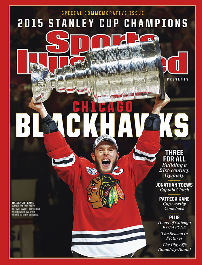 "Some might hesitate to use the ""D"" word, but as the first team to win three championships in the salary cap era, the Hawks have earned the right to call themselves a dynasty. Led by captain Jonathan Toews and the indefatigable Duncan Keith, who averaged 31:06 per game through a 23-game playoff run, Chicago overcame the Ducks in an epic seven-game Western Conference Finals and then knocked off the surprising Lightning in six to capture the Stanley Cup."
