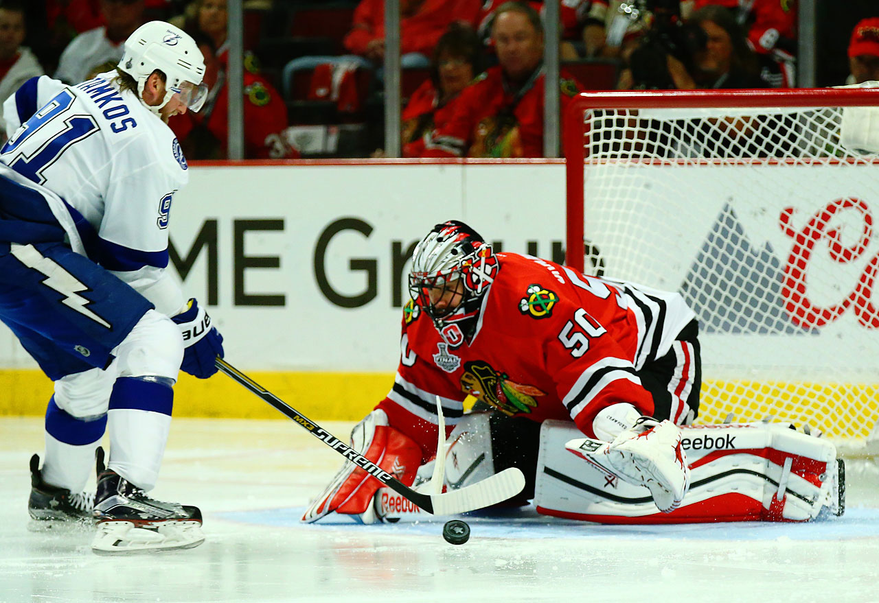 With the Game 6 victory, Corey Crawford and Chicago dealt Tampa Bay its first three-game losing streak of the season.