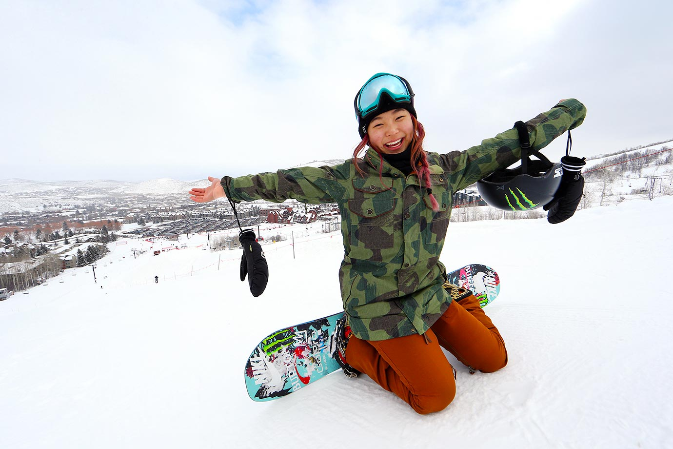 15-year-old snowboarding phenom Chloe Kim has a contagious smile and passion for her sport.