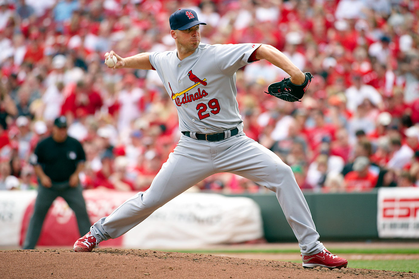 Carpenter won the 2005 NL Cy Young award after overcoming a serious shoulder injury that nearly ended his career. He was forced to miss all but five games combined in the 2007 and 2008 seasons because of Tommy John surgery and other ailments. He came back to go 17-4 with a NL-best 2.24 ERA at age 34 in 2009 and finished as the Cy Young runner-up, then went 16-9 with a 3.22 ERA in 2010 while making the All-Star team. He led the league in games started in 2010 and '11.