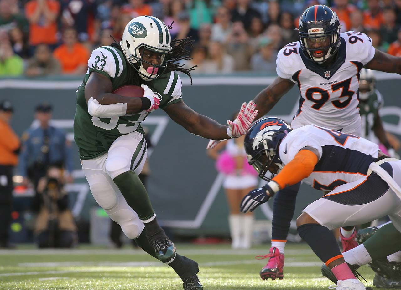 Chris Ivory got only eight rushing attempts against Denver and finished with seven yards.