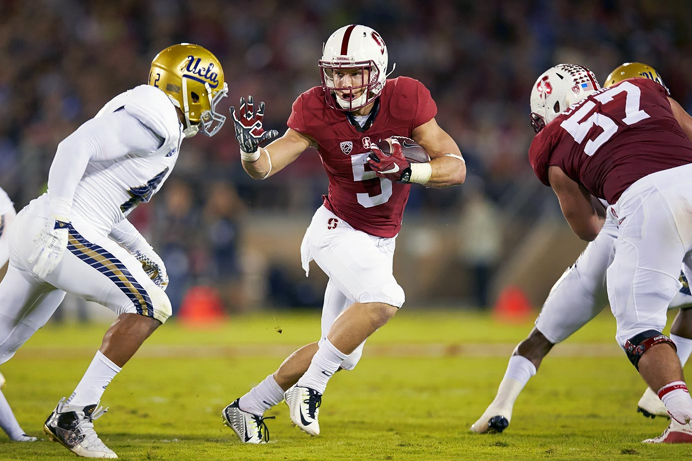 McCaffrey had one of the best seasons in the history of college football in 2015, finishing with a record 3,864 all-purpose yards, including over 2,000 rushing yards and 1,000 return yards. He finished second in Heisman voting last year, giving him some unfinished business for 2016.