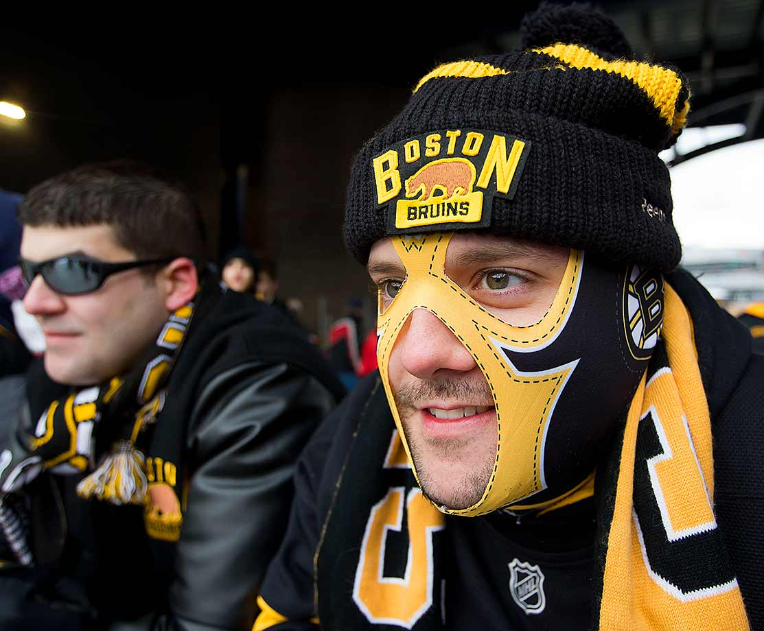 There was no masking this Bruins fan's anticipation. First place in the Atlantic Division was on the line as the two bitter rivals met.