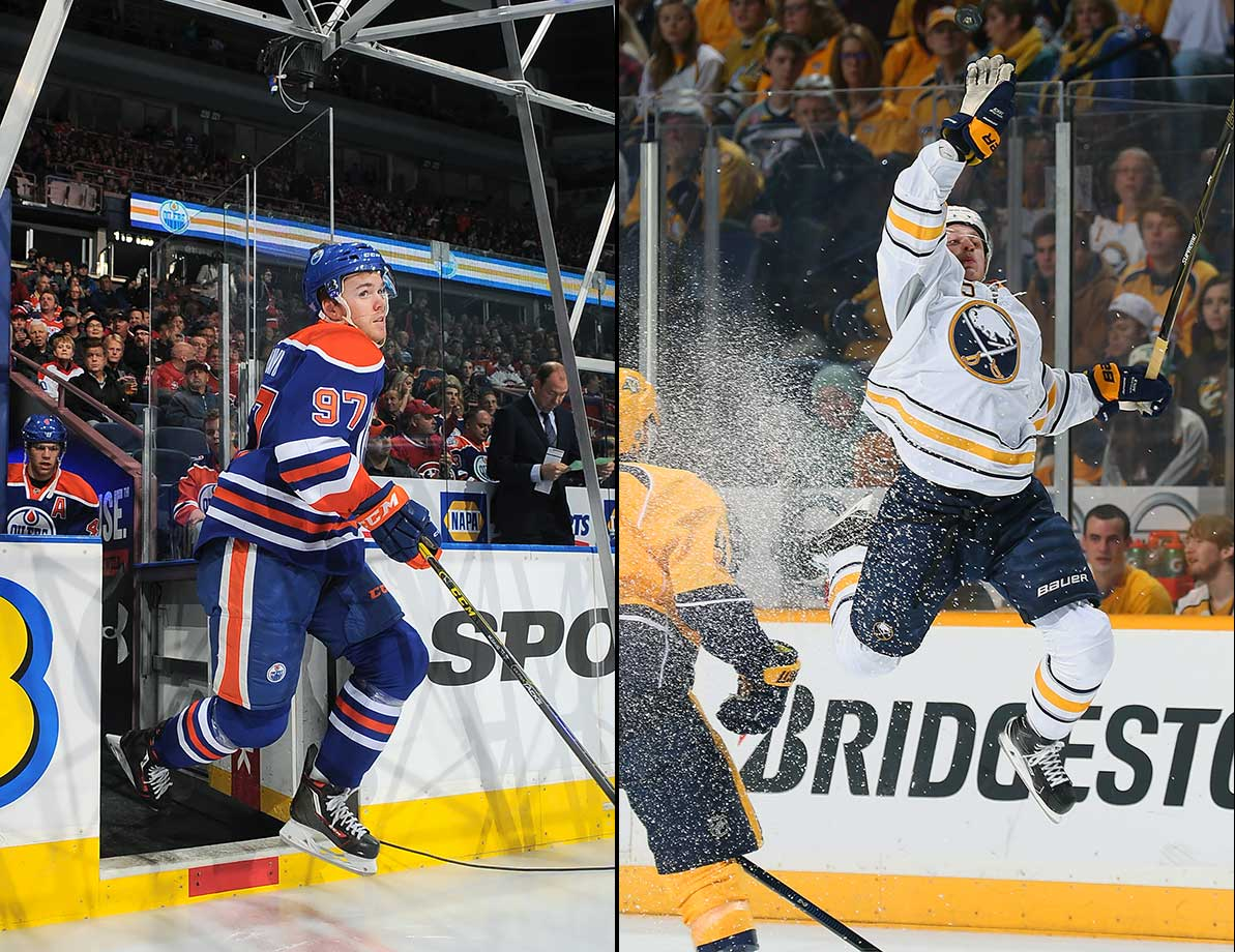 Years of hype, a feverish race to the bottom of the standings and a fortuitous lottery draw culminated in the Oct. 9 debuts of two of the most promising players in recent NHL history. Buffalo's Jack Eichel (right) made an immediate impression, scoring a spectacular power play goal midway through the third period of a 3-1 loss to the Sens. Edmonton's Connor McDavid took longer to get on track but rang off a seven-game, 11-point streak before suffering a long-term shoulder injury.