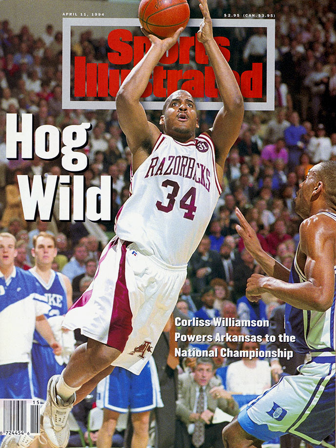 A player who shined brightest in the spotlight of March, Williamson averaged more points in the NCAA tournament than he did in the regular season for each of his three postseason runs with Arkansas. Williamson's clutch play lead the Razorbacks to the 1994 national championship. He scored 23 points in the title game to beat Duke, earning Most Outstanding Player honors. Williamson got Arkansas back to the championship game again in 1995, this time falling to UCLA.