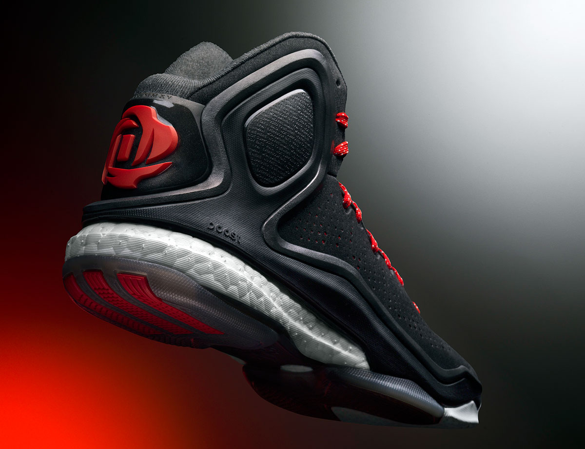 "With the adidas Boost cushioning taking over nearly every line of shoes, adidas brought the cushioning to the hardwood first for Derrick Rose. The full-length Boost sole includes a lightweight and breathable ""fit cage"" for strength and support in the upper. The cage also serves as the main aesthetic feature of the D Rose 5 Boost."