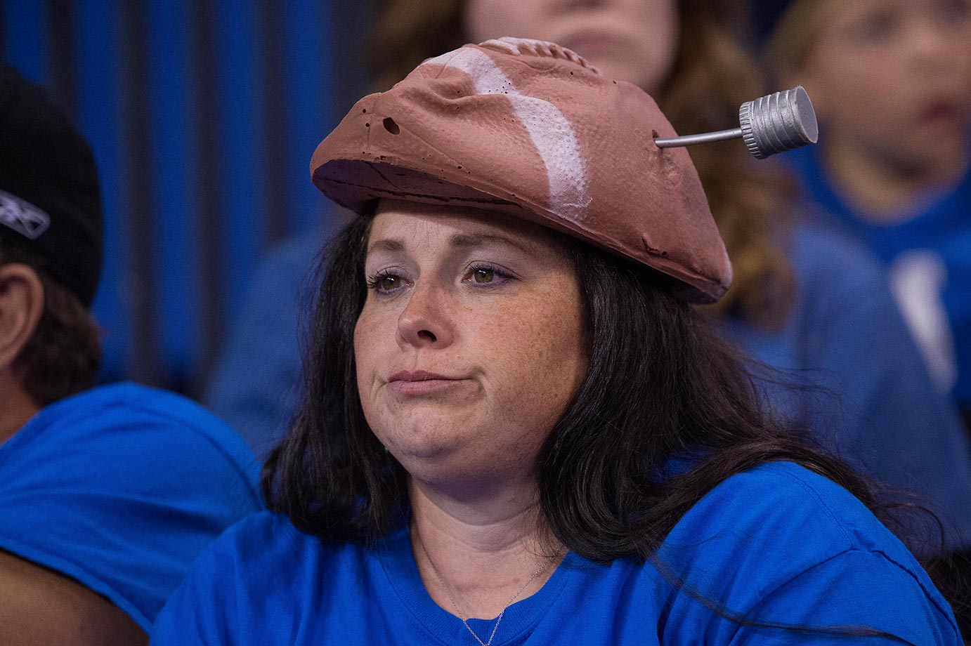 An Indianapolis Colts fan wasn't very happy about losing to the Patriots.