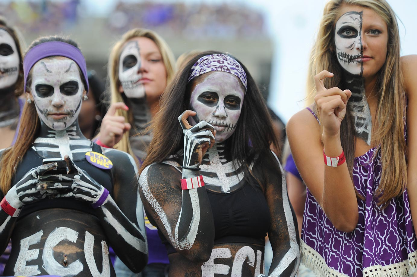 Girls of the boneyard during game between North Carolina and East Carolina.
