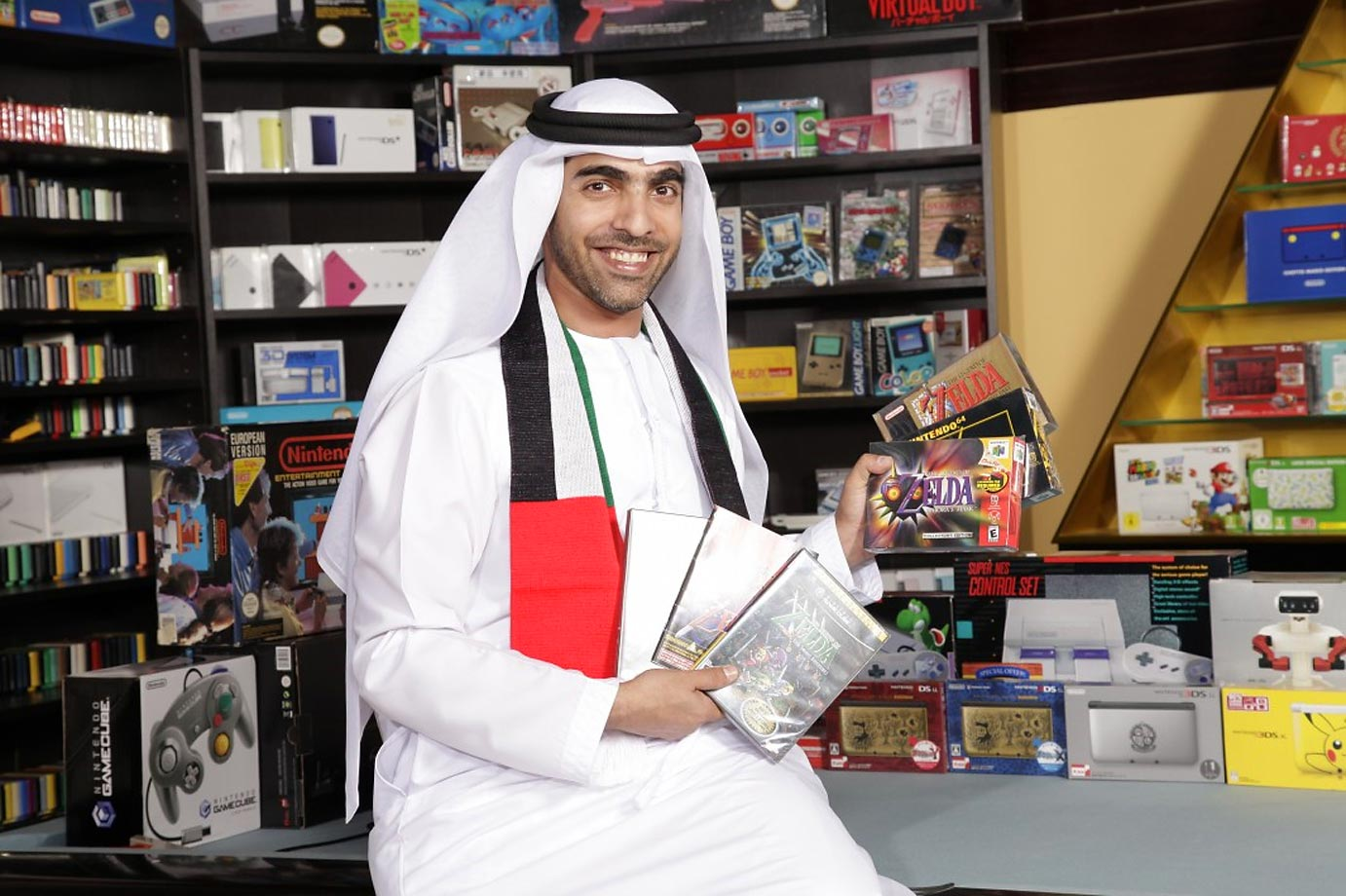 The largest collection of Nintendo Entertainment System paraphernalia belongs to Ahmed Bin Fahad and consists of 2,020 items.