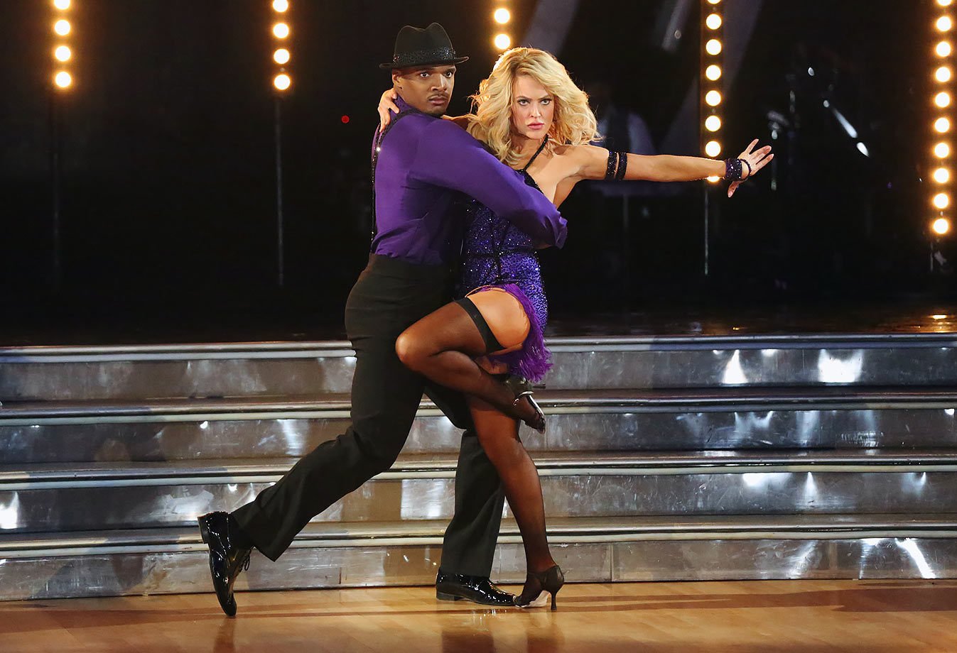 Defensive end Michael Sam finished in 10th place with dancing partner Peta Murgatroyd in Season 20.