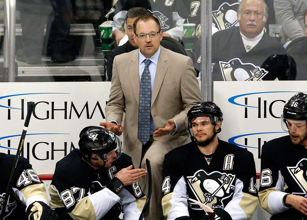Penguins coach Dan Bylsma was fired on June 6, after Jim Rutherford was named the team's new GM.  Bylsma, who won the Jack Adams Award as the NHL's coach of the year in 2011, had a 252-117 record in six seasons in Pittsburgh and led the Penguins to a Stanley Cup championship in his first season in 2009. However, in each of the past five seasons, the Pens had lost to a lower-seeded team in the playoffs.