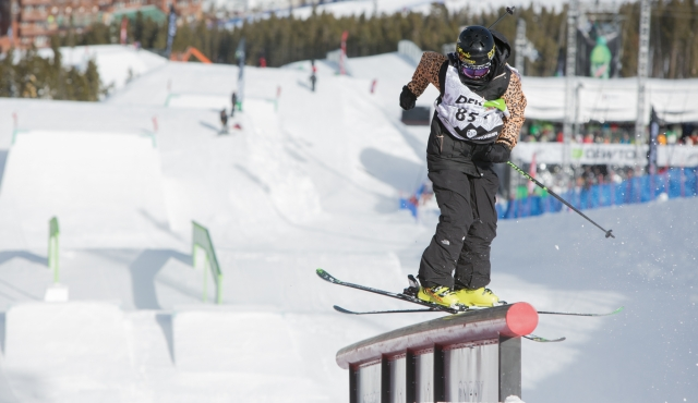 Dara Howell in the women's ski slopestyle finals.