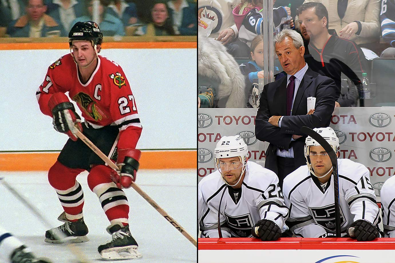 The second of the six Sutter brothers to reach the NHL, Darryl was an 11th round pick by Chicago in 1978. He spent a season playing in Japan before scoring 40 goals for the Blackhawks as a rookie in 1980-81. He later broke Bobby Hull's team record for most goals during a playoff season (12, in 1984-85). A litany of injuries ended his playing career at age 29. Through five seasons as head coach of the Los Angeles Kings, Sutter is 186-112-45 with two Stanley Cups.