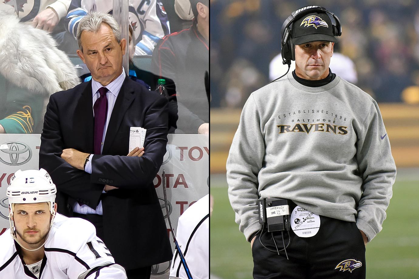 "Sutter was given a new ""multi-year"" deal by the Kings according to a team media release in January 2013 and recent reports have put his annual paycheck at $2.25 million. Harbaugh was signed to an extension by the Ravens in March 2014 that bumped his yearly pay from $4 million per to the $7 million neighborhood."