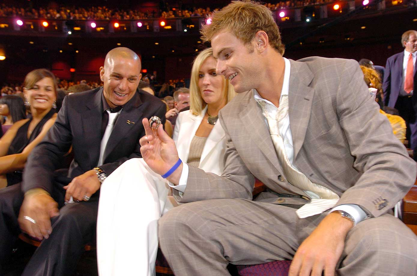 Dave Mira and Andy Roddick during 2005 ESPY Awards.