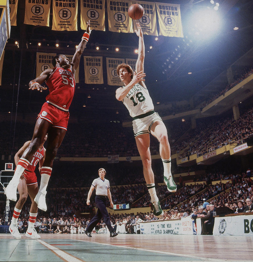 "Known as ""The Cow"" or ""Big Red,"" Dave Cowens' smooth left hand was responsible for more than 13,000 career points and MVP honors in 1973."