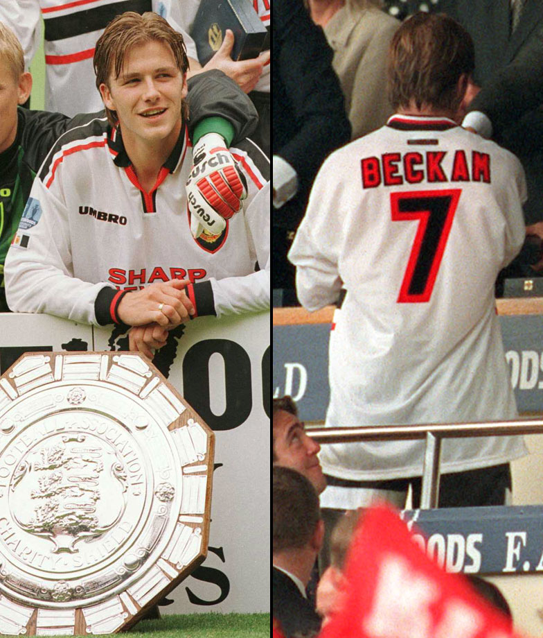 "On Aug. 3, 1997, David Beckham wasn't quite the celebrity he is today, and Manchester United managed to leave the ""H"" out of his name for a Charity Shield match against Chelsea FA."
