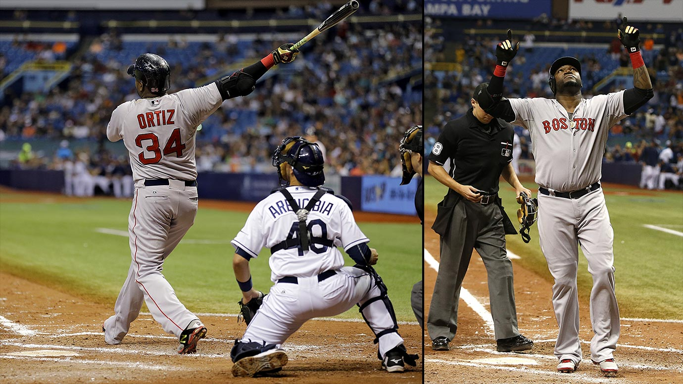 Ortiz homered twice to become the 27th player in major league history to reach 500 homers, as the Red Sox beat the Rays 10-4 on Sept. 12, 2015. Big Papi has 50 multi-homer games in a 19-year career. He joined Albert Pujols as the only players to hit both 499 and 500 in the same game.