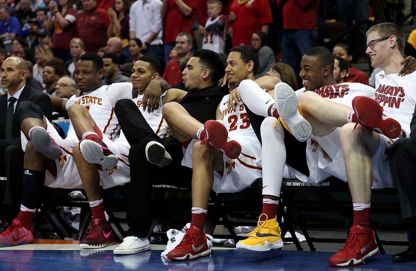 The Iowa State bench was in a joking mood in a blowout win over Arkansas Little Rock.