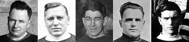 """Cyril """"Cy"""" Denneny, Ganton Scott, Lionel Hitchman, Edmond Bouchard, Lloyd Cook"""