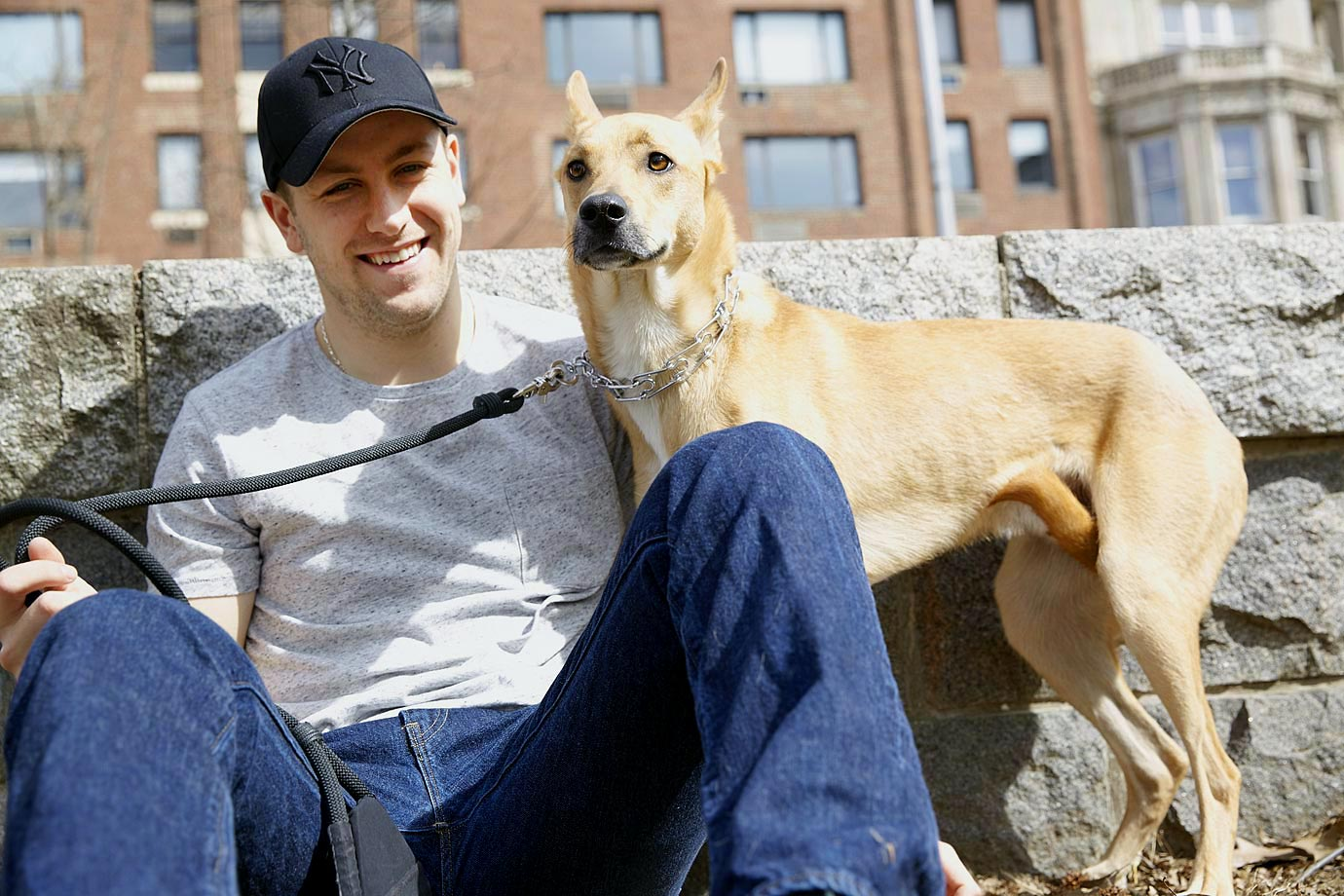 "Jake splits his time between the Stepan's Upper West Side apartment and the family's second home in Minnesota. ""He's a cuddler,"" says Derek's wife Stephanie. ""He definitely is a little shy of new people, but he's great with other animals."""
